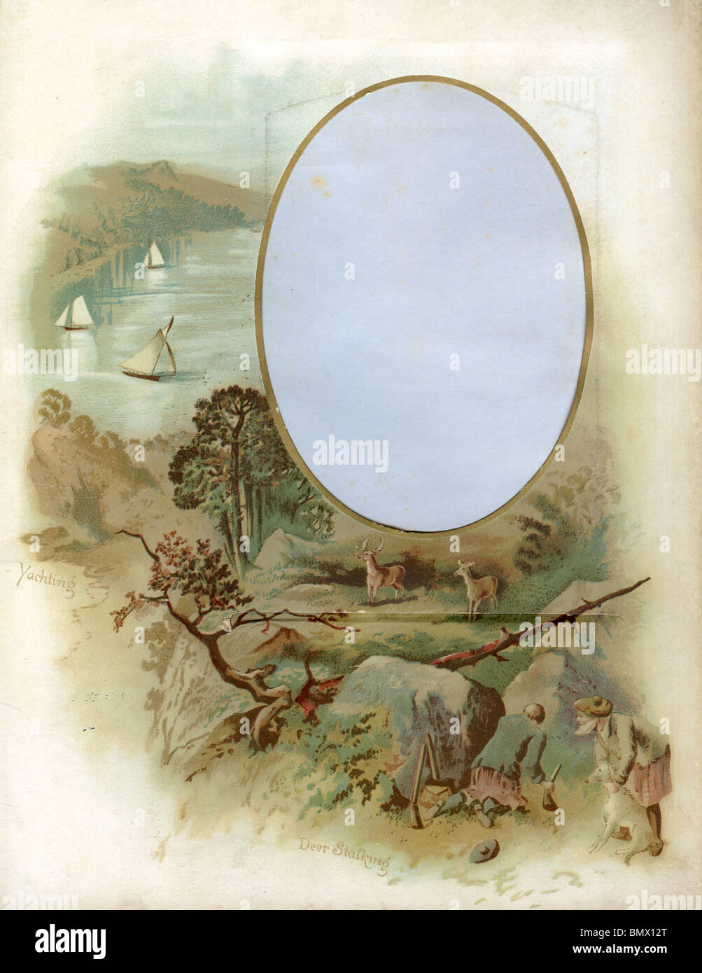 Decorative Frame - Yachting and Deer Stalking - Stock Image