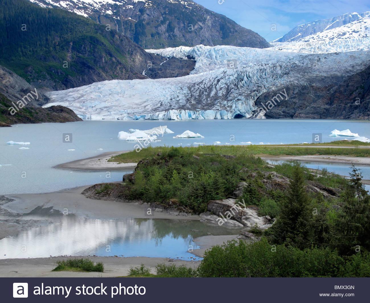 Mendenhall Glacier, Alaska - Stock Image