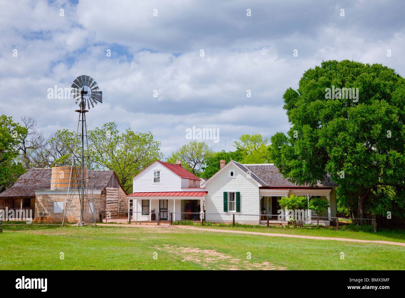 The Sauer-Beckmann Farmstead, near the Lyndon Bains Johnson National Historic Park visitors center. - Stock Image