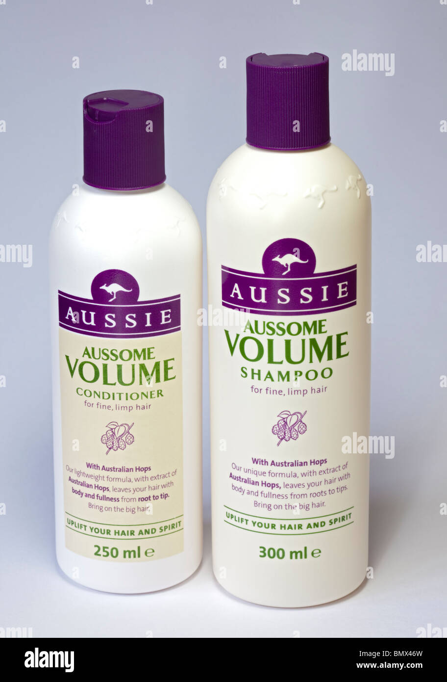 Aussie Aussome Volume Hair Shampoo and Conditioner - Stock Image