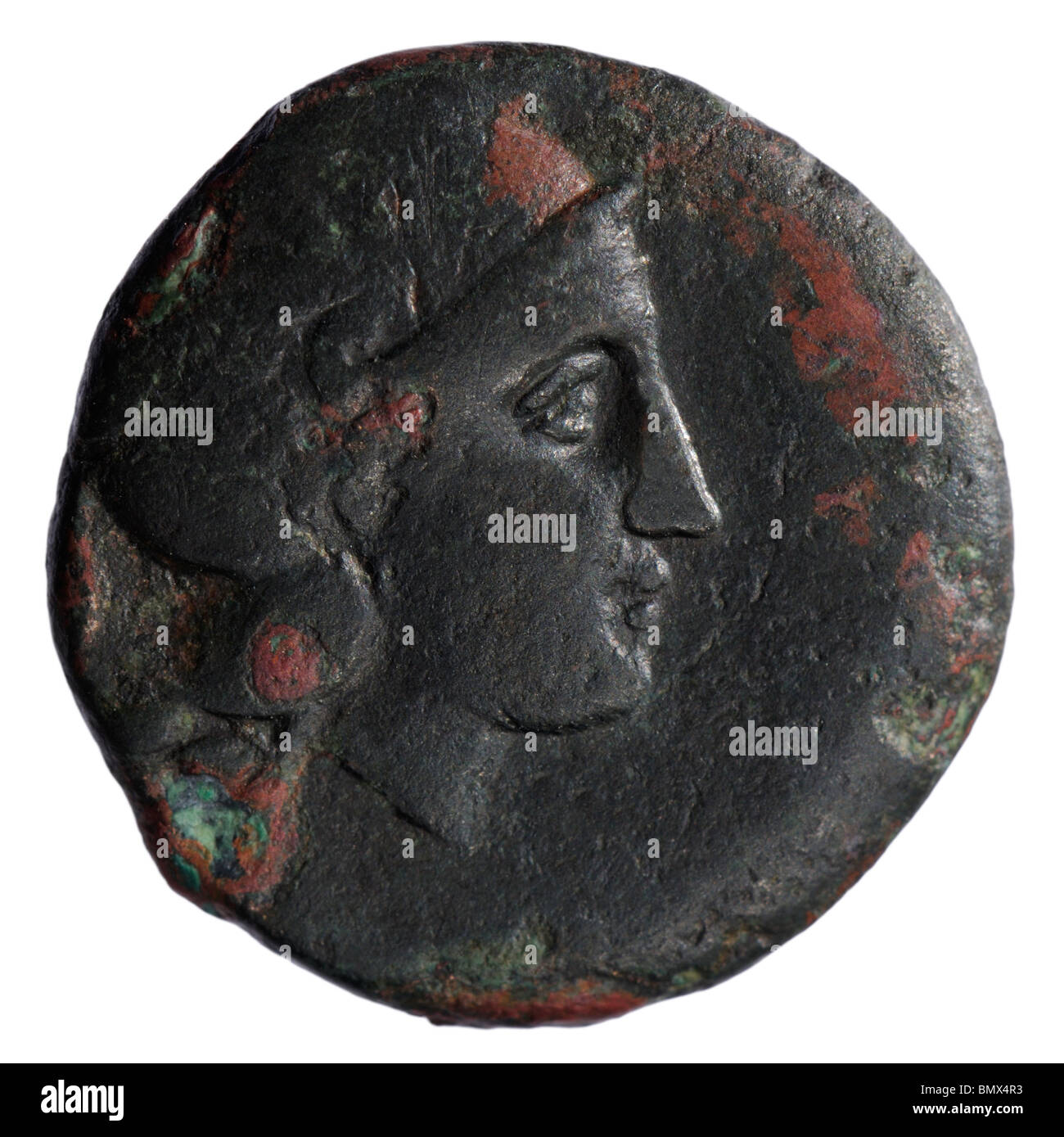 Ancient Greek bronze Coin - Stock Image