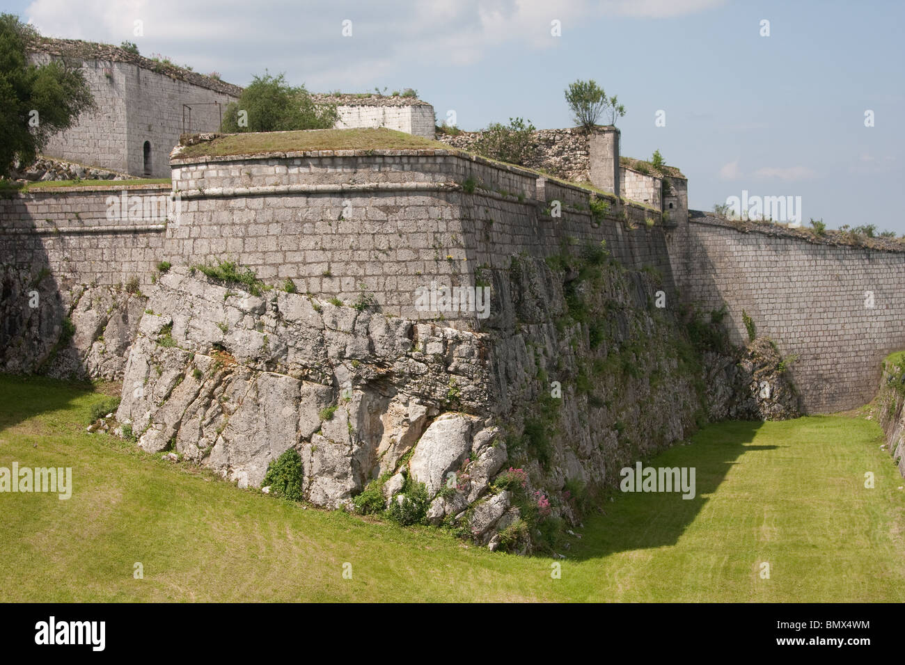 ancien regime fortifications stone citadel ruins - Stock Image
