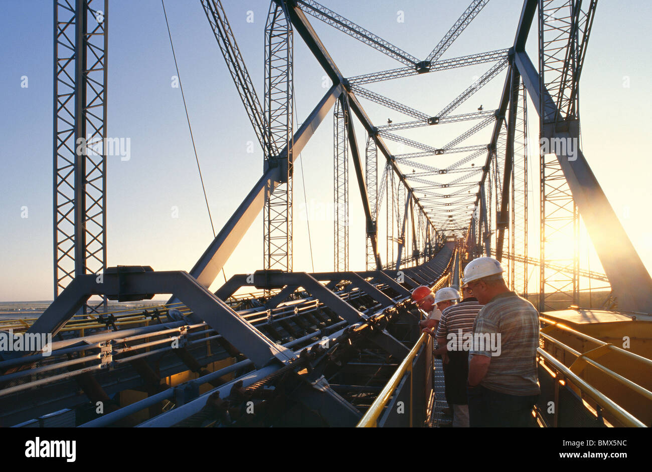 Overburden Conveyor Bridge F60 for Lignite Mining - Stock Image