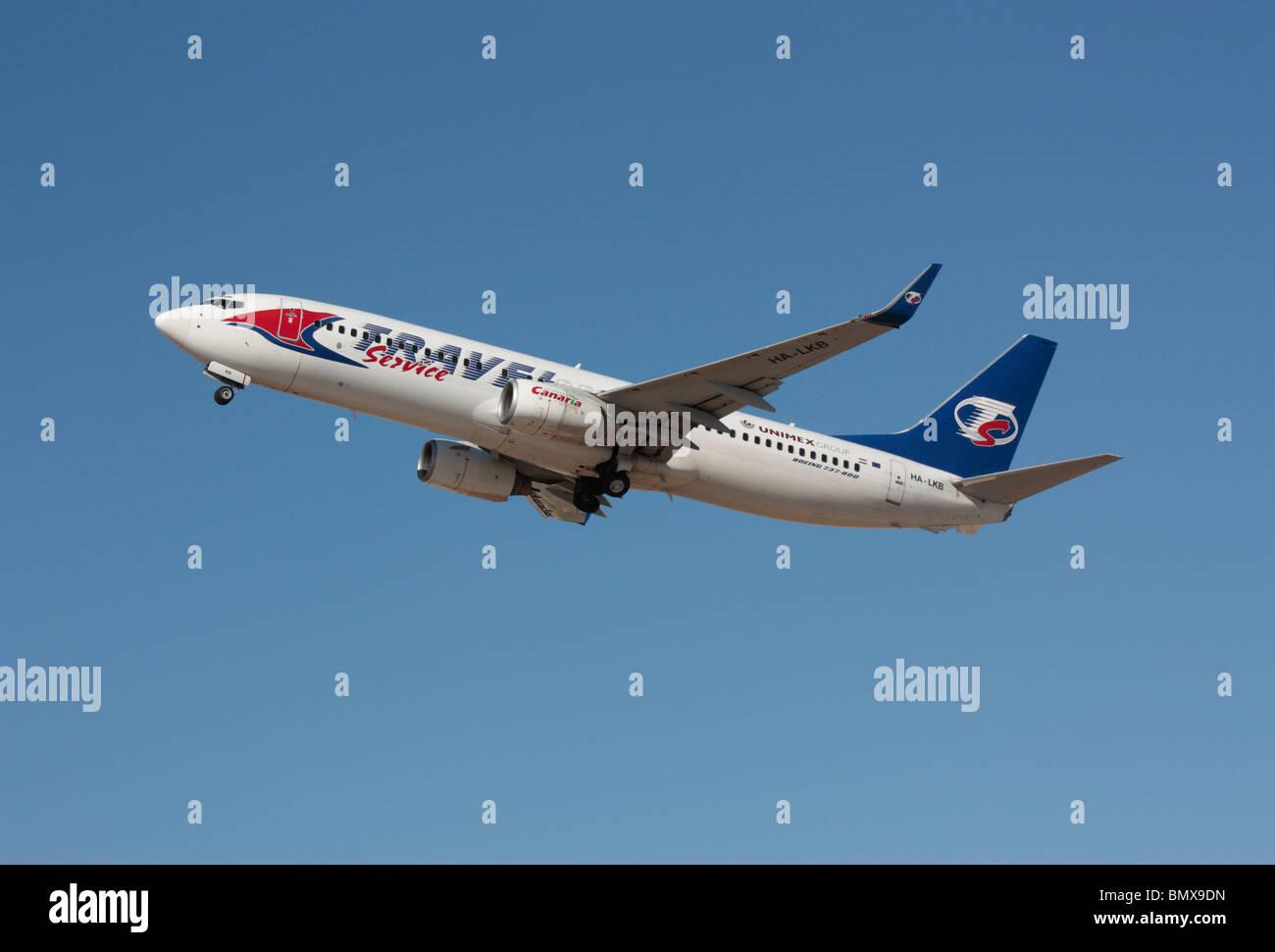 Travel Service Hungary Boeing 737-800 - Stock Image
