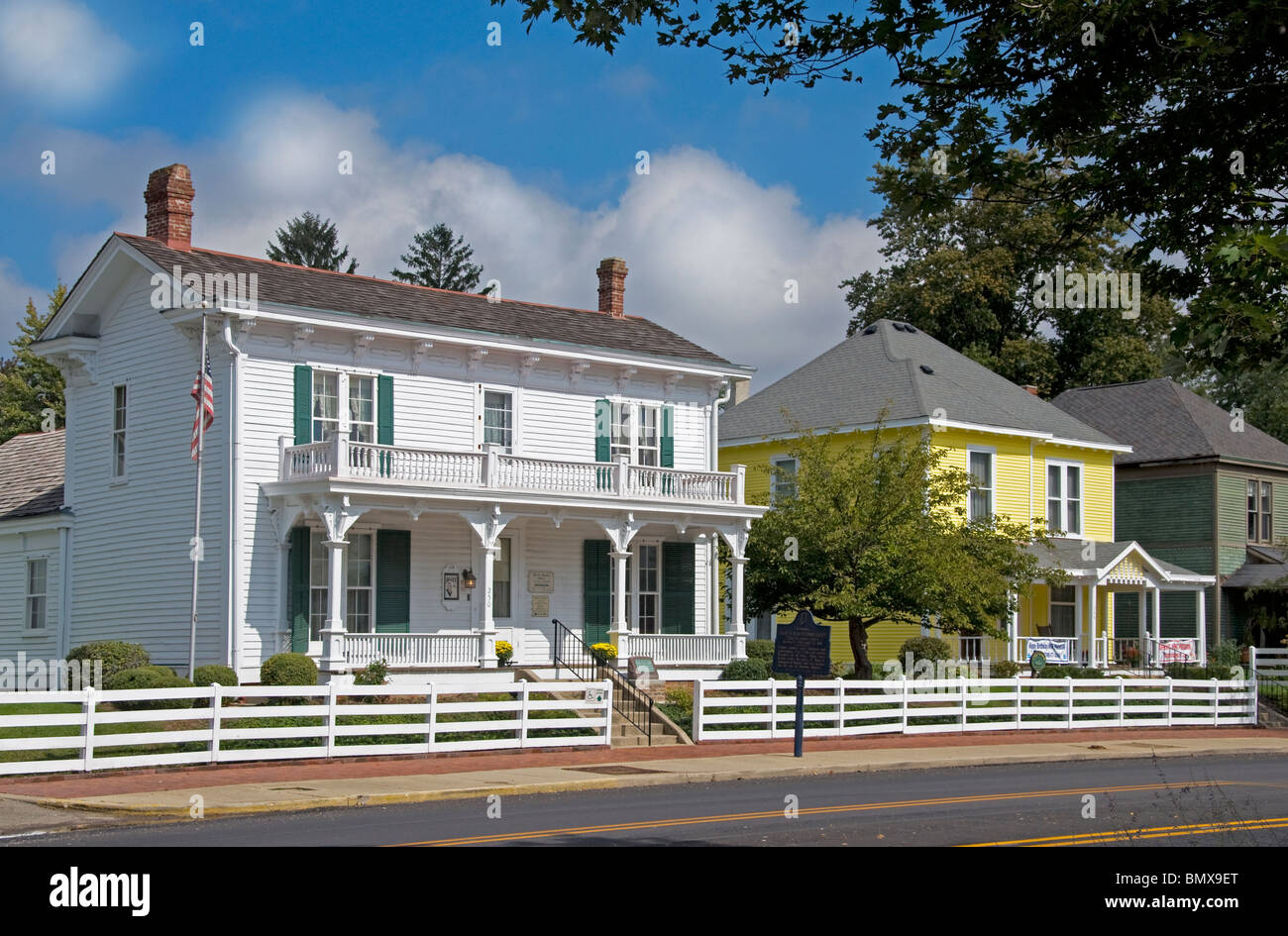 The birthplace of James Whitcomb Riley (1849), the 'Hoosier Poet,' in Greenfield, Indiana. - Stock Image