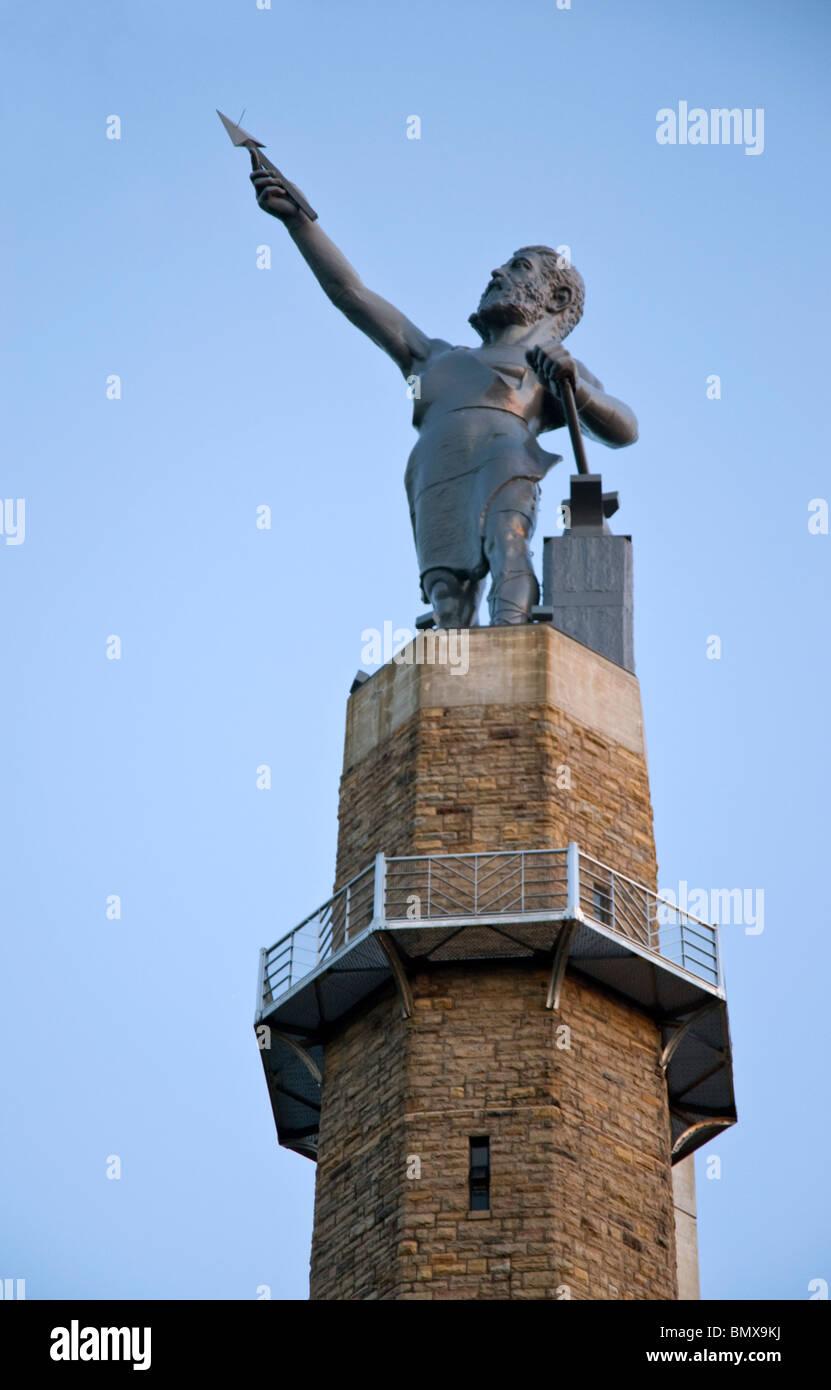The Vulcan Statue at Vulcan Park & Museum, Birmingham, Alabama, USA Stock Photo