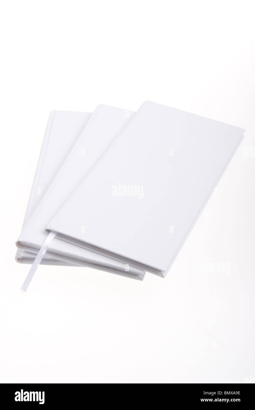 Stack of diaries - Stock Image