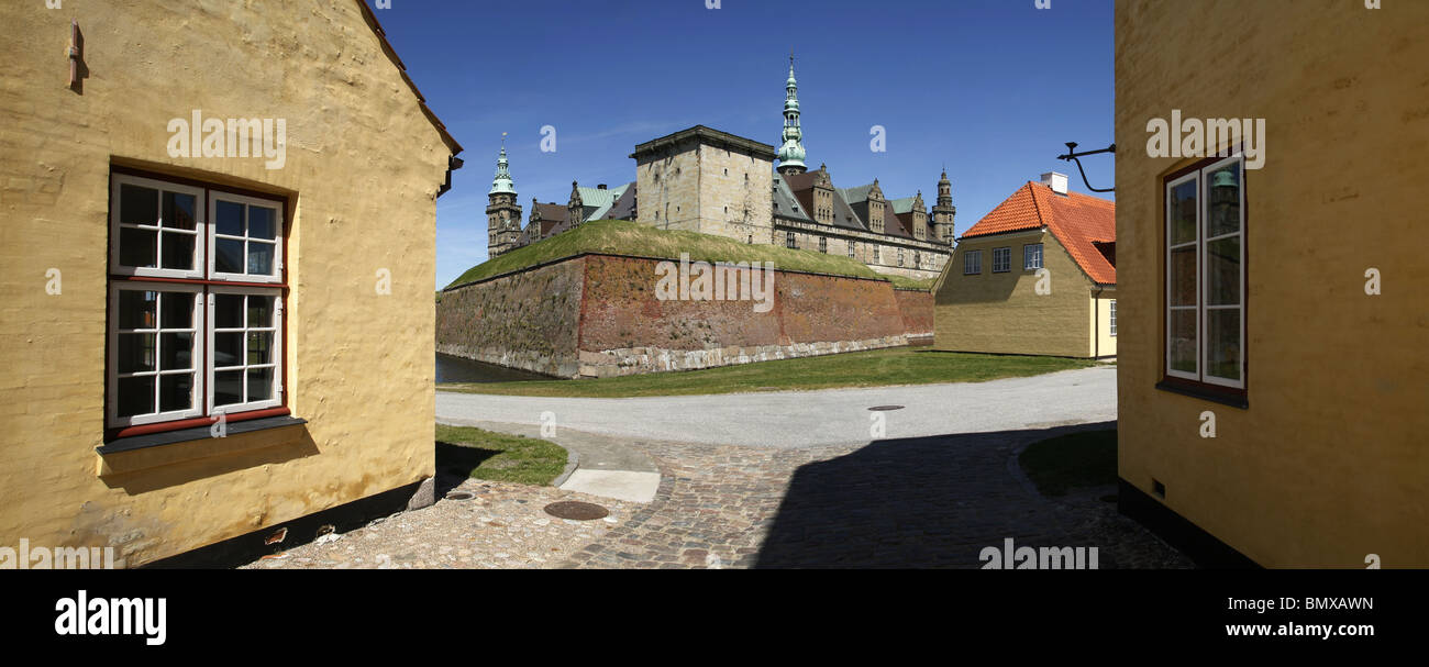 Kronborg Castle, Helsingør, Zealand, Denmark Stock Photo