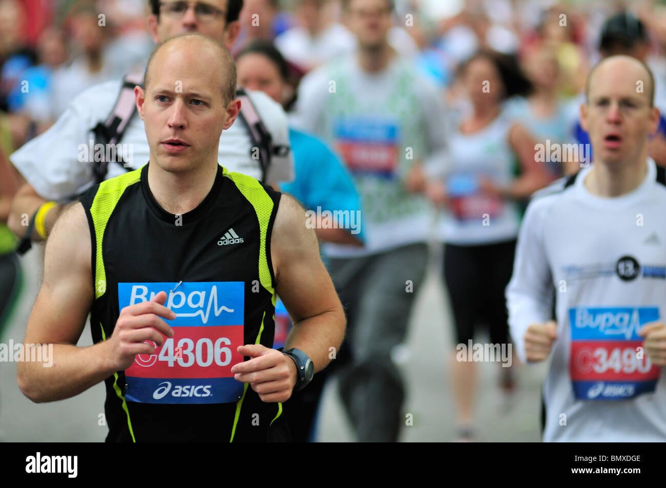 Mass participation running event, London, United Kingdom - Stock Image