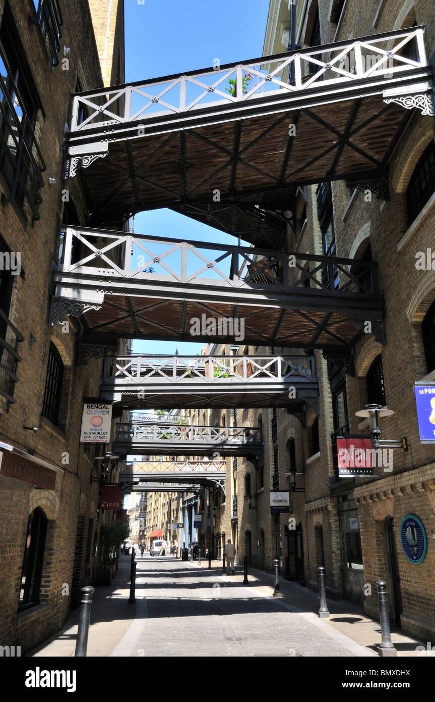 Shad Thames, Bermondsey, Southwark, London SE1, United Kingdom - Stock Image