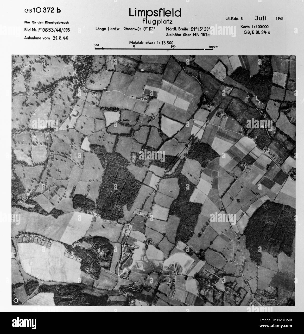 Limpsfield - Surrey 31st August 1940 Aerodrome - Stock Image