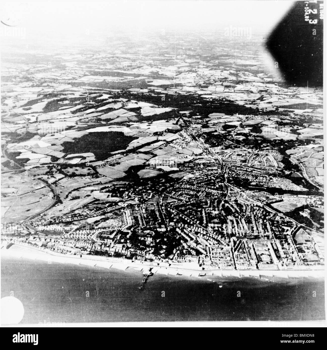 Hastings - Sussex 1940 Oblique View - Stock Image