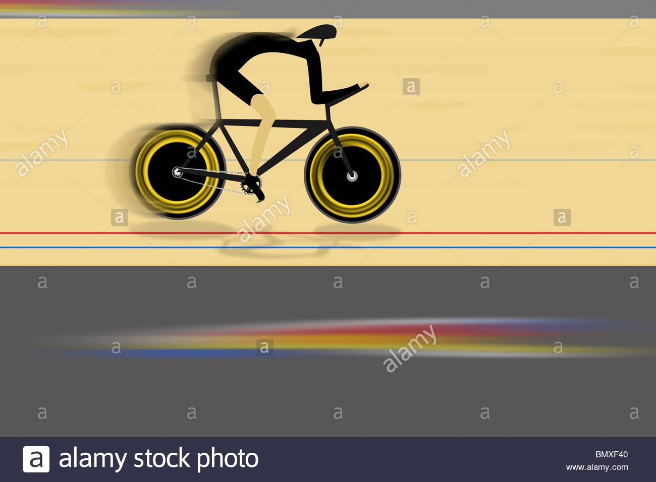 Illustration of cyclist - Stock Image
