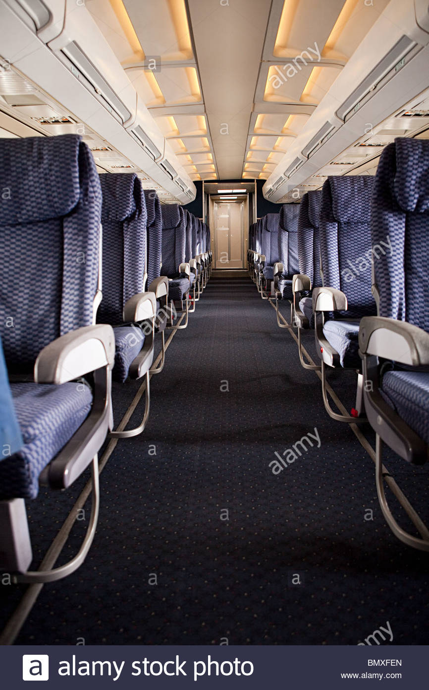 Airplane cabin - Stock Image