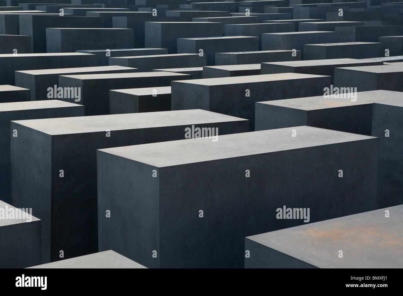 Berlin holocaust memorial Stock Photo
