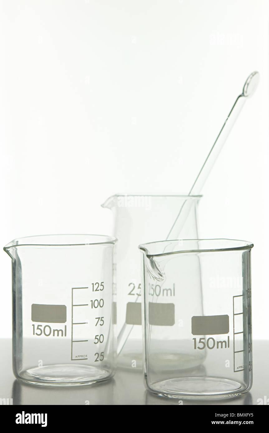 Science beakers - Stock Image