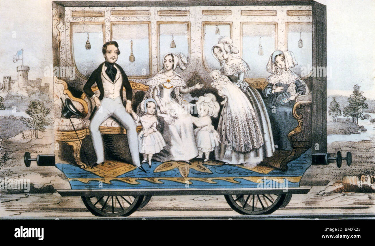 QUEEN VICTORIA and Prince Albert with their family . See Description below - Stock Image