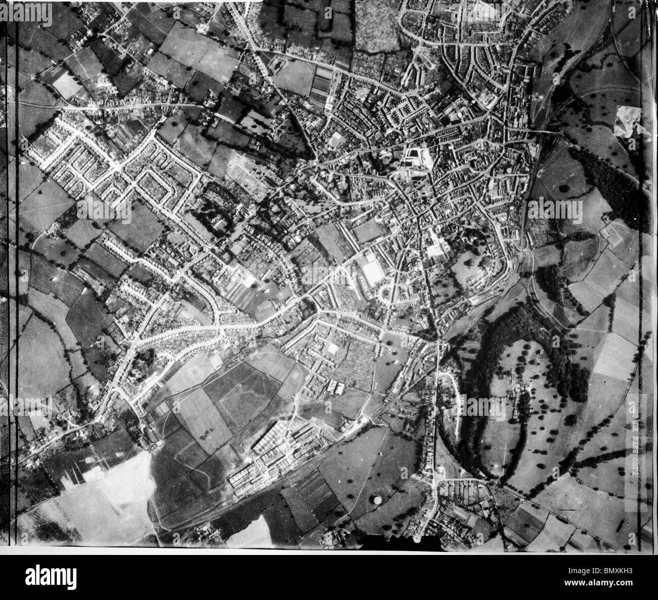 Yeovil - Somerset  1940 Town Centre & Home of Westland Aircraft Works - Stock Image