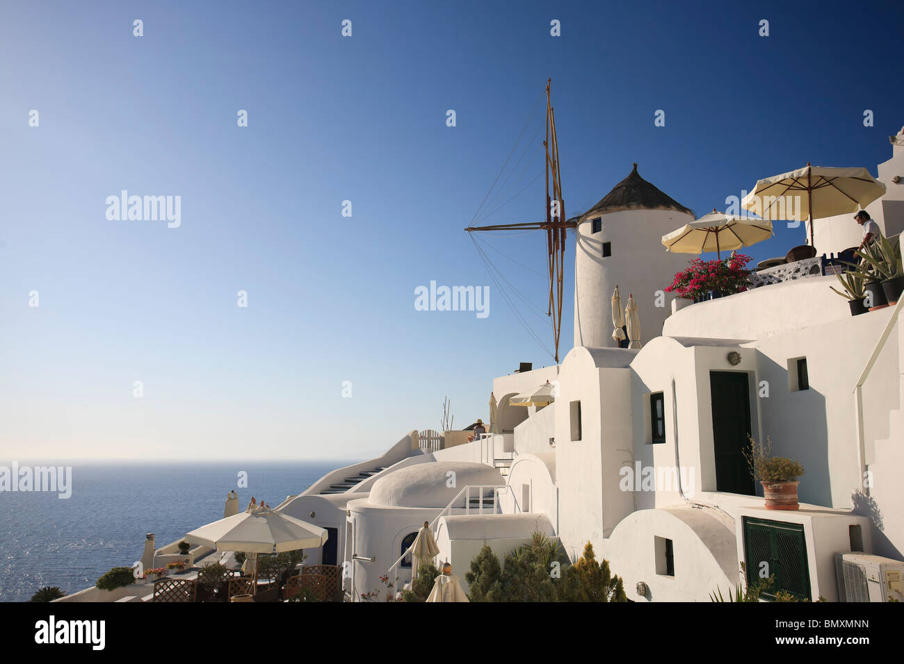 Greece, Cyclades, Santorini, Oia Town, Boutique Hotel - Stock Image