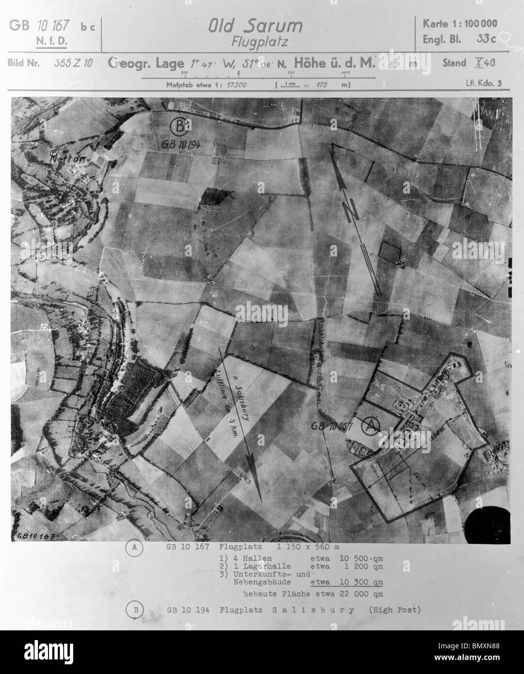 Old Sarum, Nr. Salisbury - Wiltshire 1st October 1940 Airfield Stock Photo