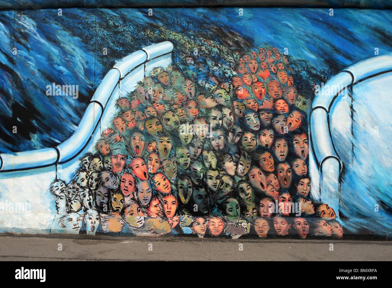 East side gallery Berlin Stock Photo