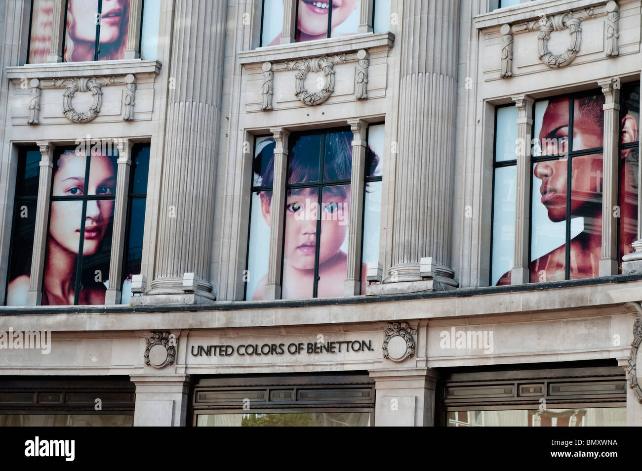United Colors of Benetton shop on Oxford Circus, London, UK - Stock Image