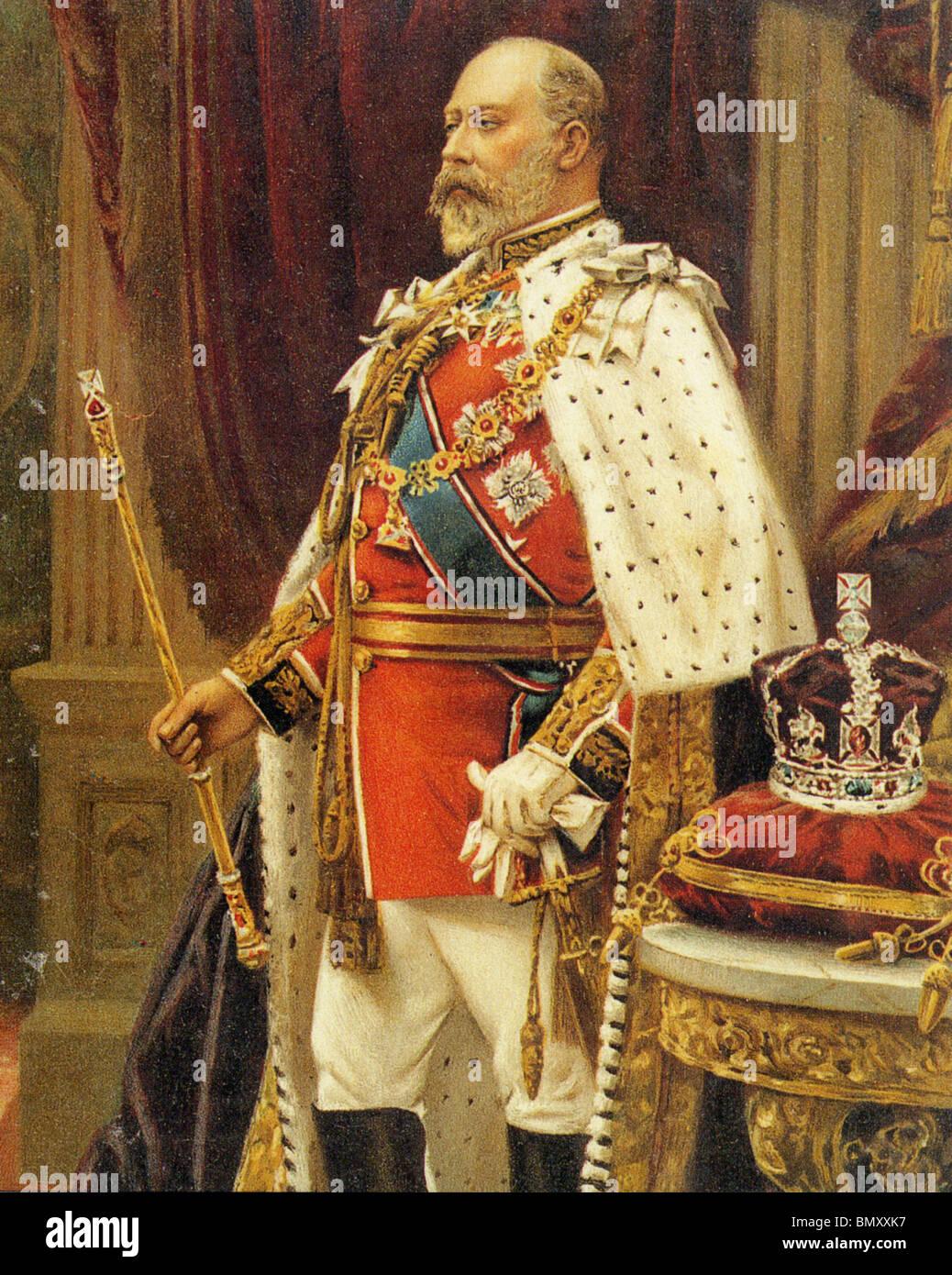 KING EDWARD VII of the United Kingdom (1841-1910) - Stock Image