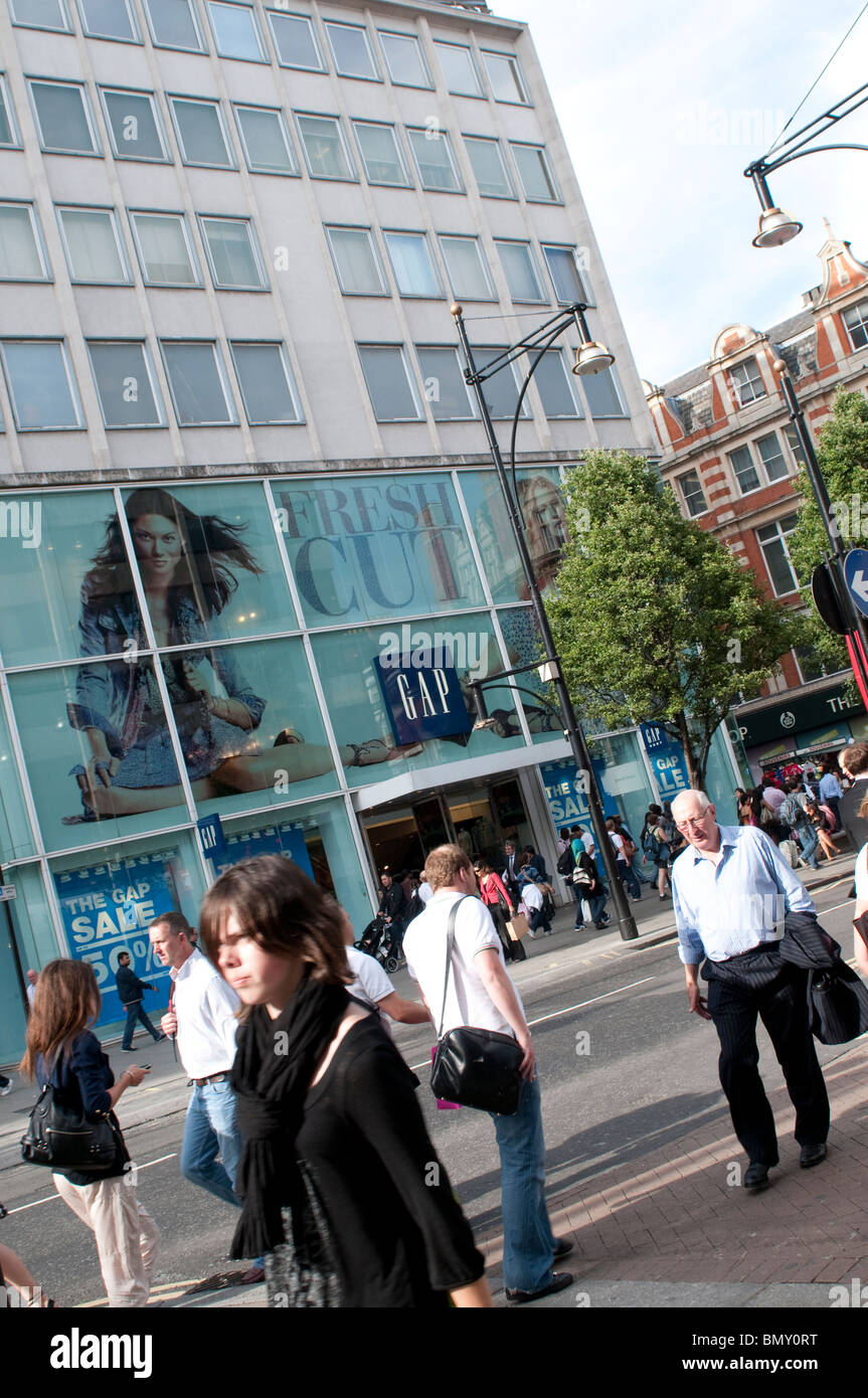 Gap store on Oxford Street, London, UK - Stock Image