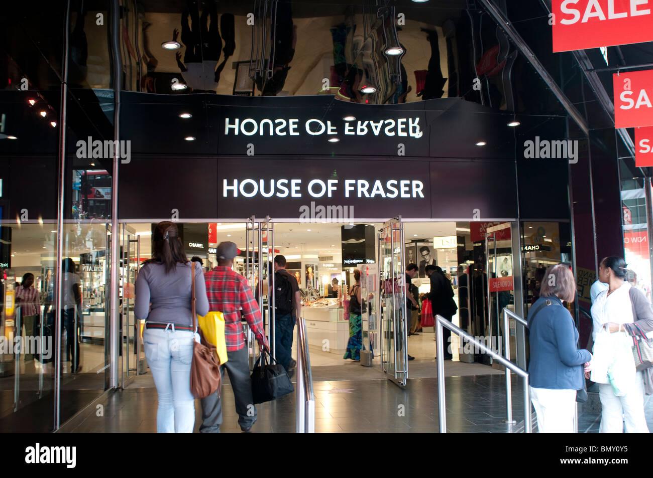 House of Fraser shop on Oxford Street, London, UK - Stock Image