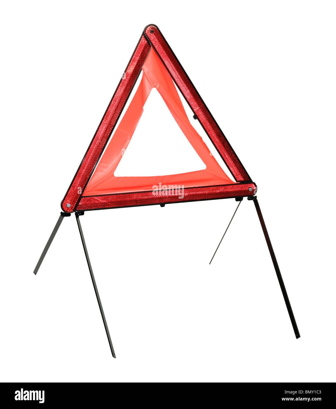 Emergency warning triangle - Stock Image