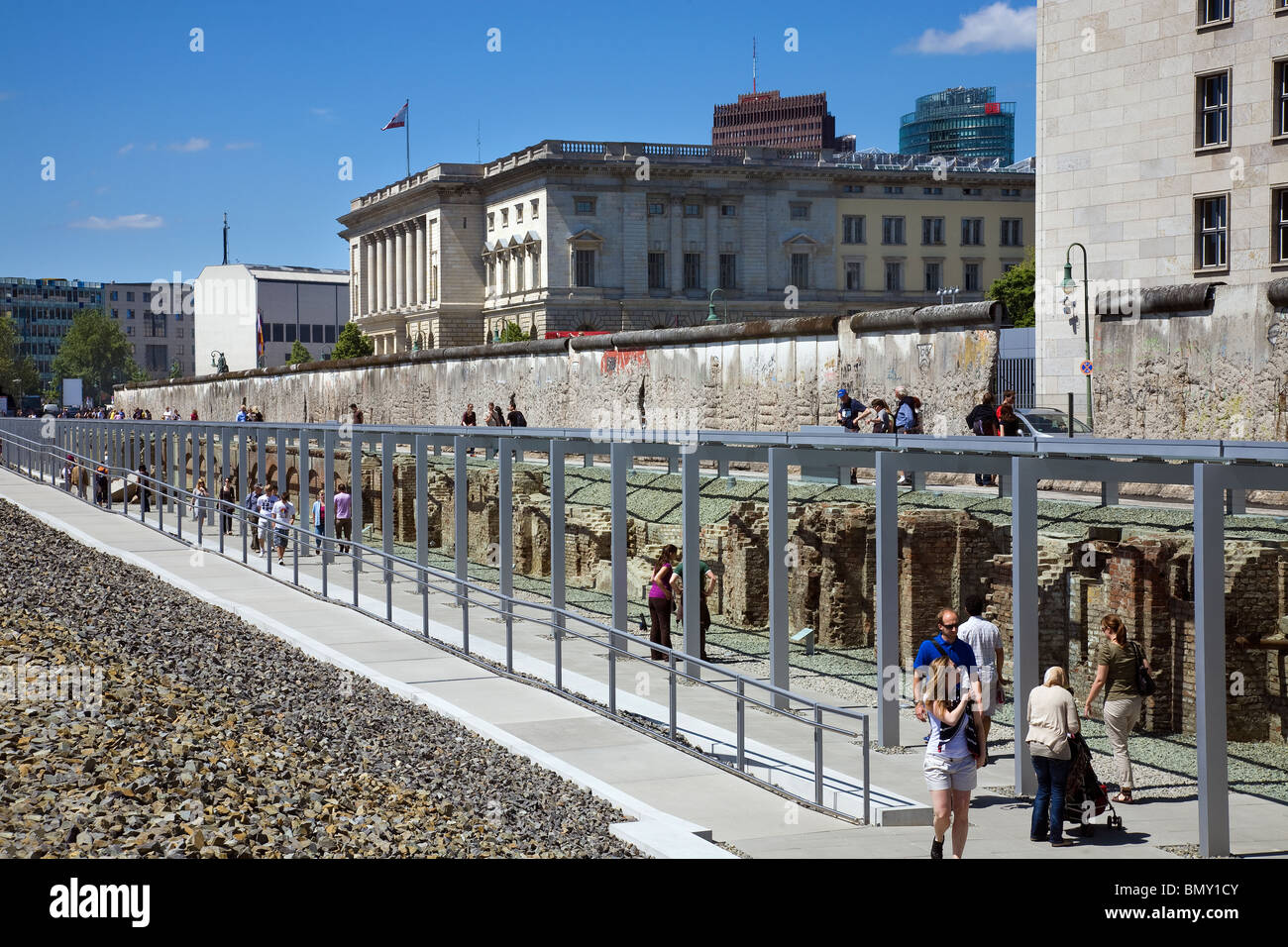 Topography of Terror, Berlin, Germany - Berlin Wall remains - Stock Image