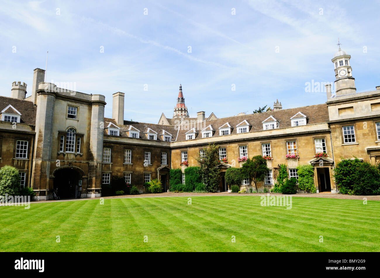 First Court at Christs College, Cambridge, England, UK - Stock Image