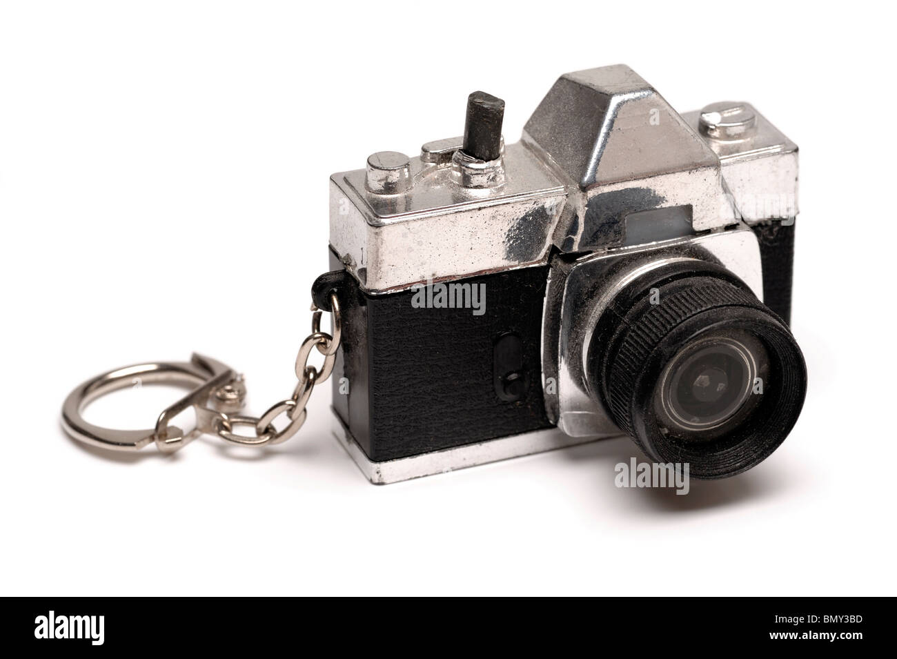 Mini toy camera keyring - Stock Image