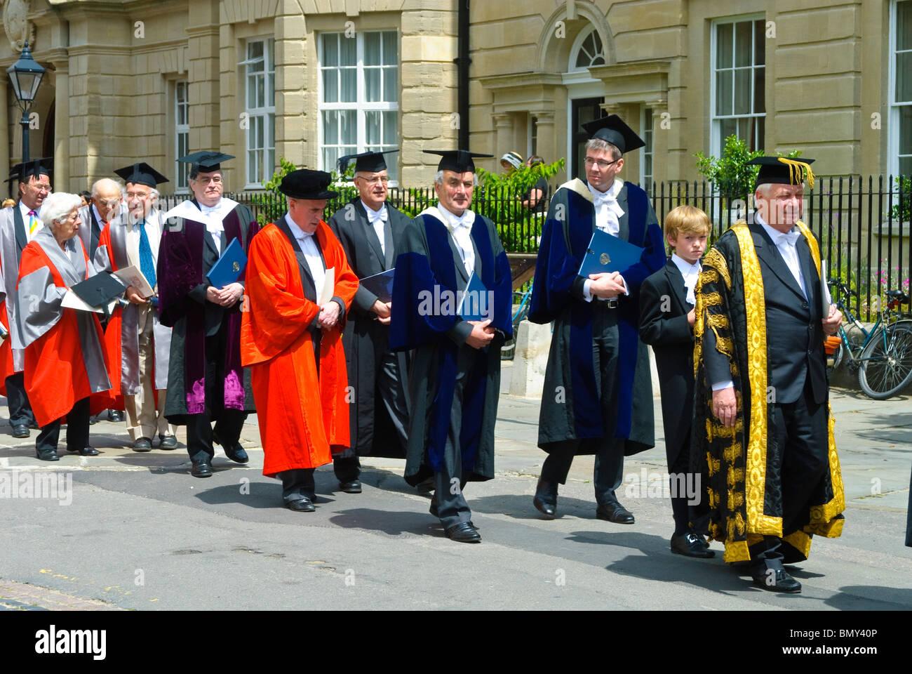 University of Oxford Encaenia Procession 2010 Stock Photo