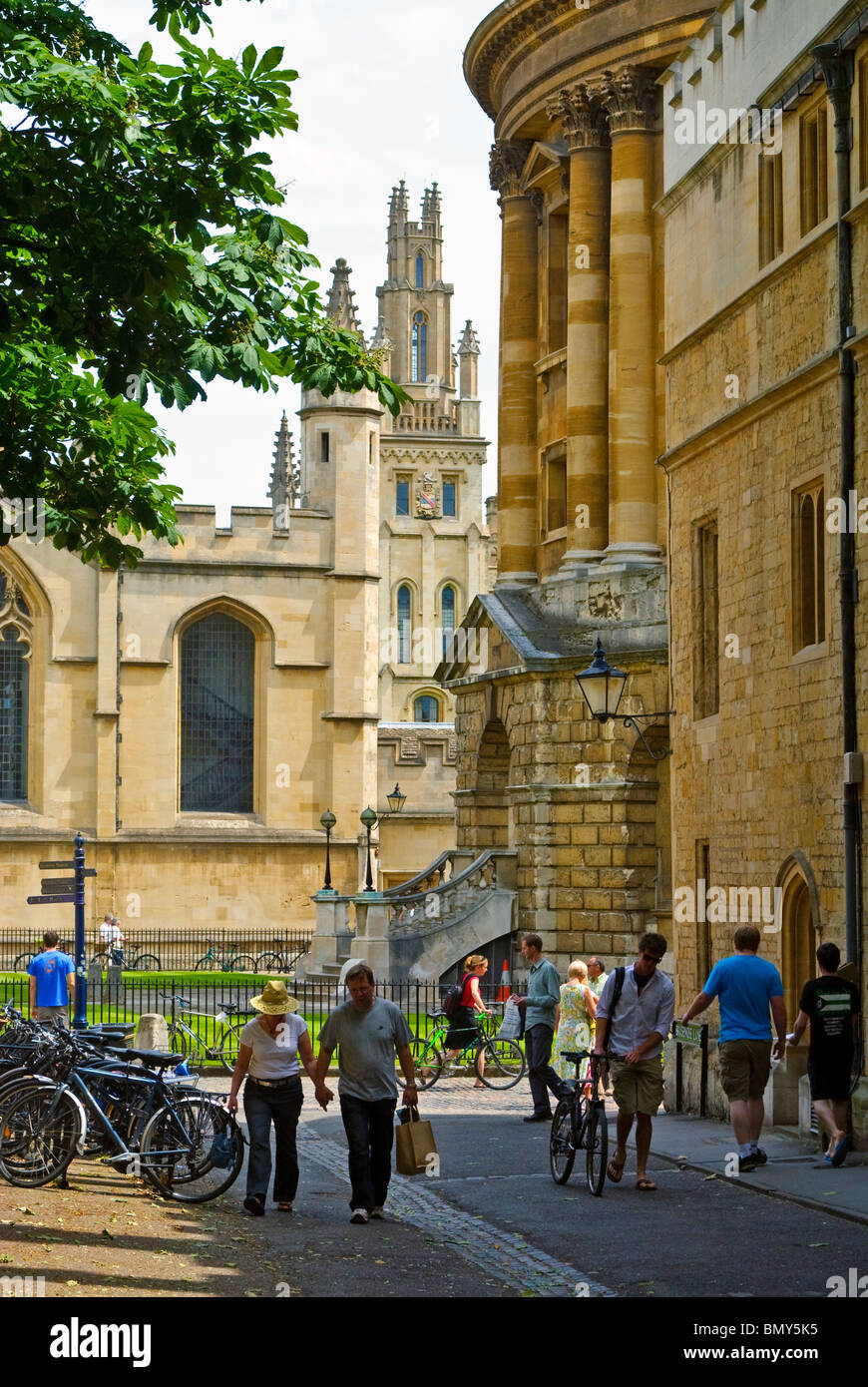Brasenose Lane, Oxford, England - Stock Image