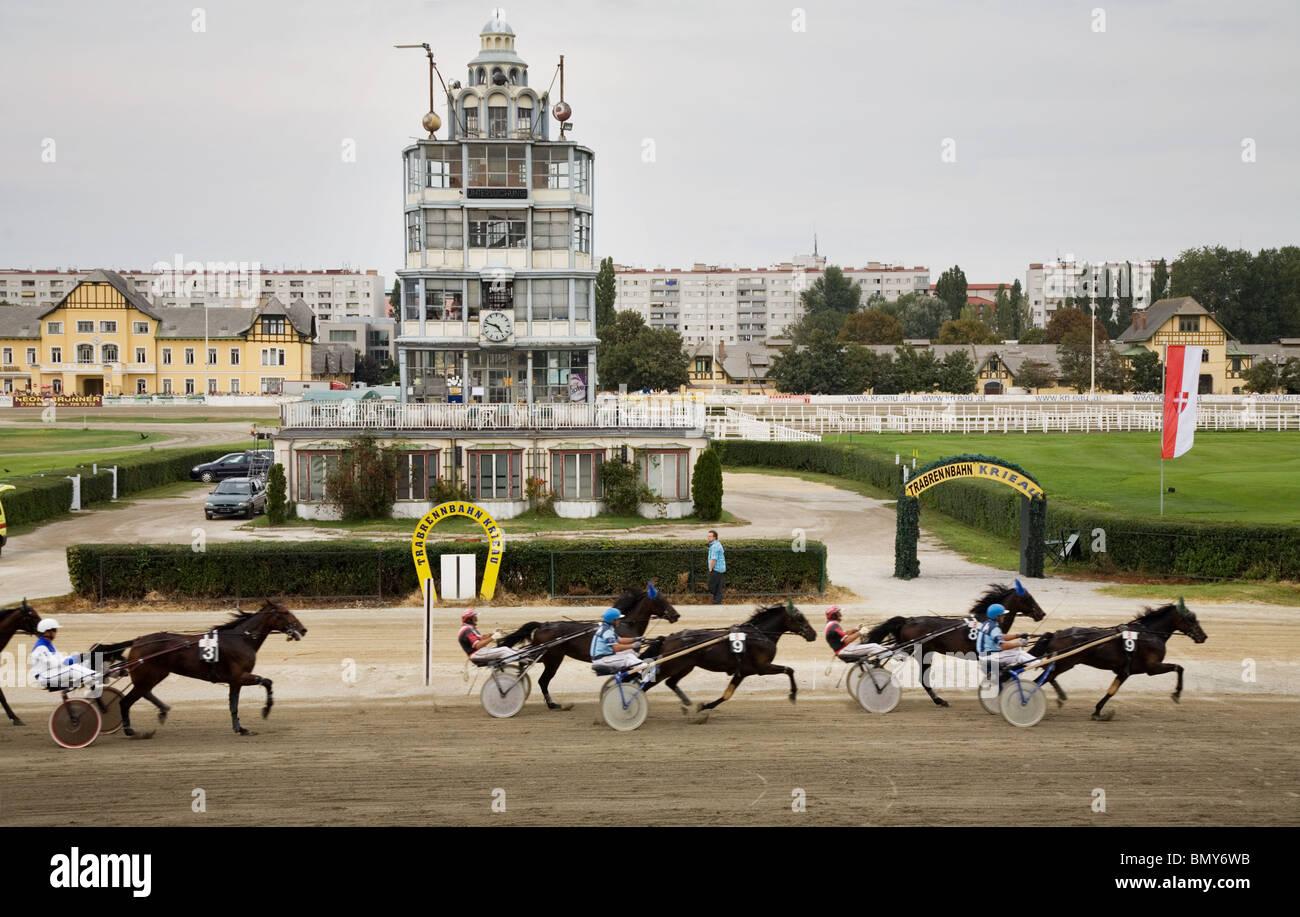 Trotting racing stadium Krieau Vienna, Austria - Stock Image
