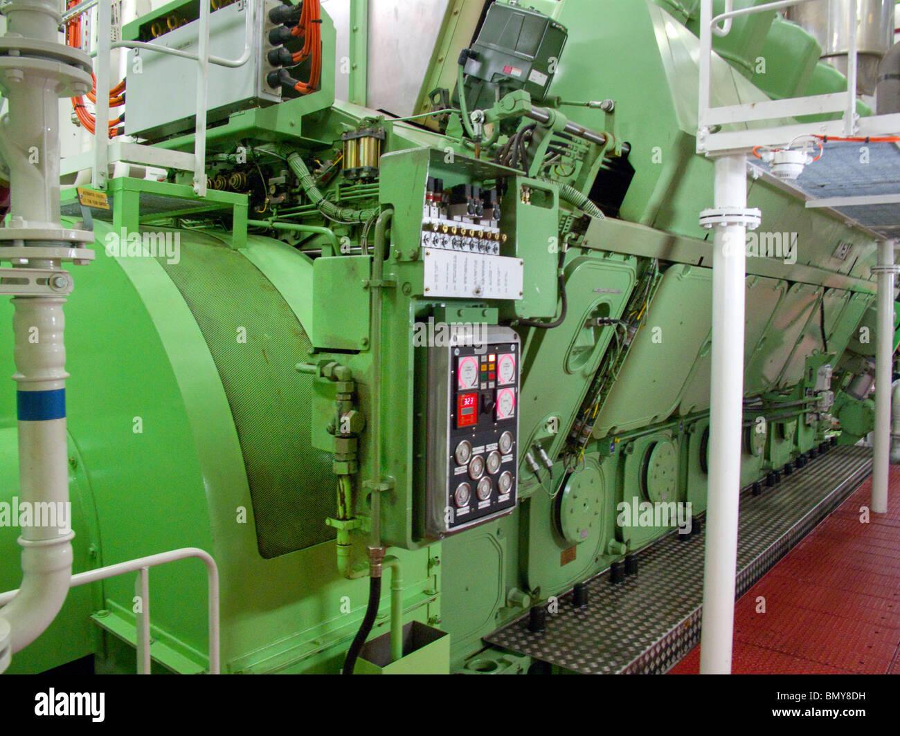 Eurodam Cruise Ship Engine Room Stock Photo 30102845 Alamy