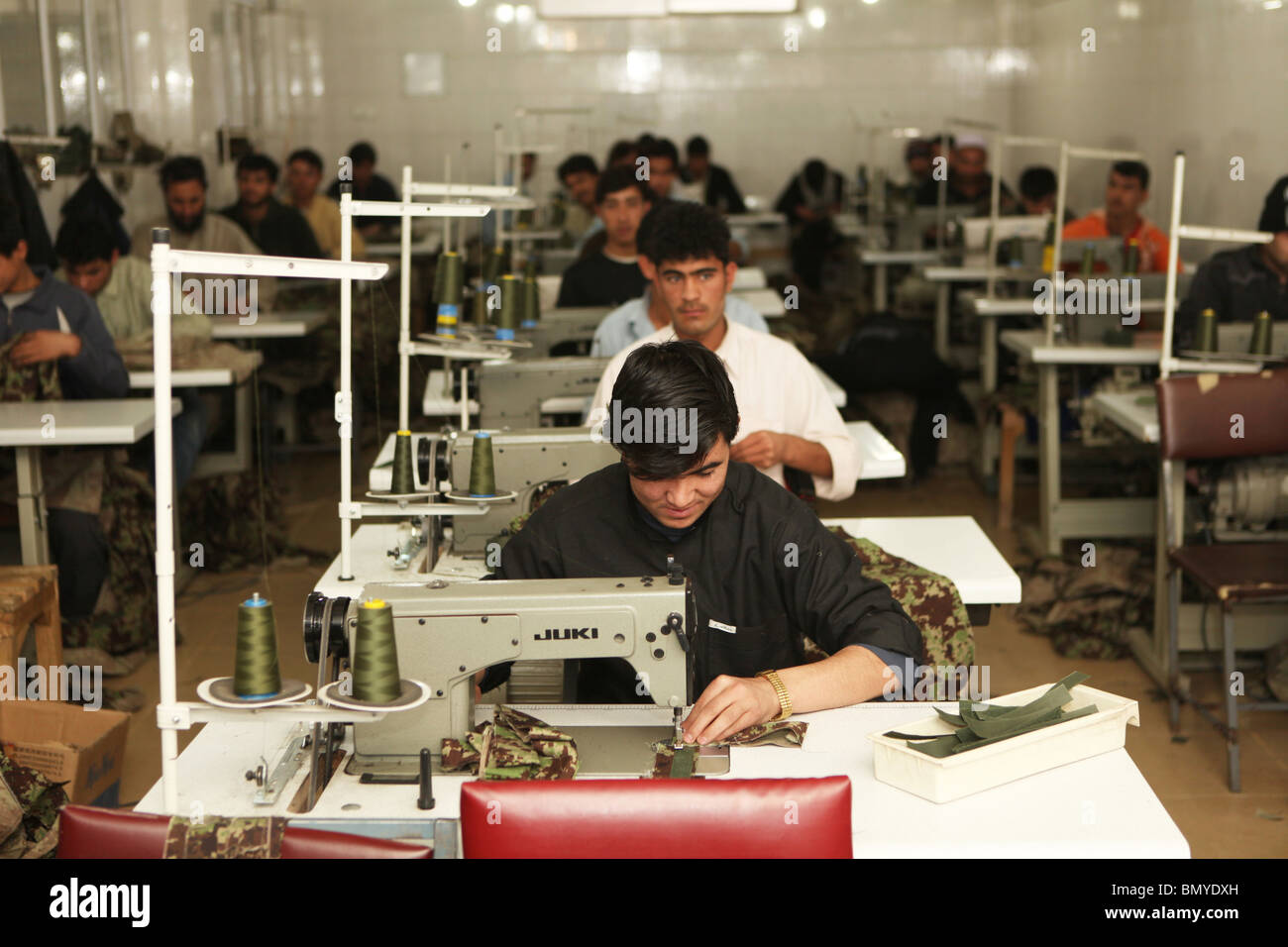 Sweatshop in kabul - Stock Image