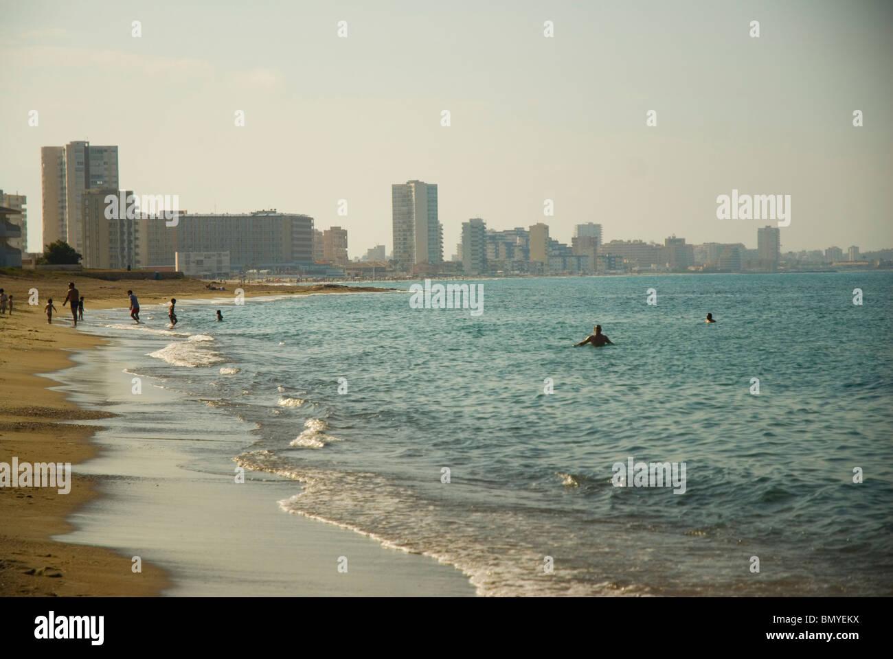 La Manga del Mar Menor beach CARTAGENA  Murcia region SPAIN - Stock Image