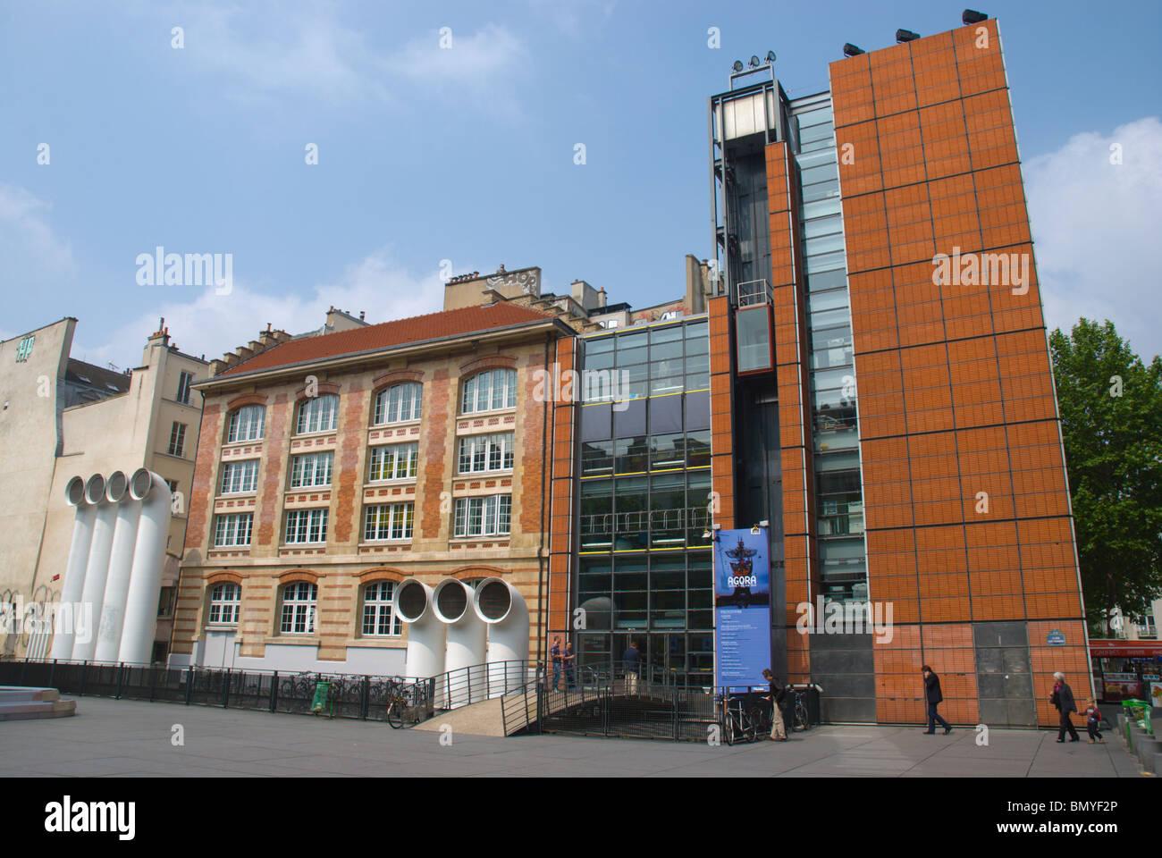 Centre Pompidou extension building Le Marais district central Paris France Europe - Stock Image