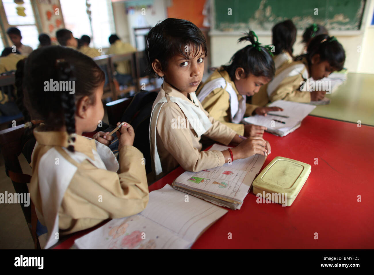primary school in a slum in karachi pakistan stock photo 30108321