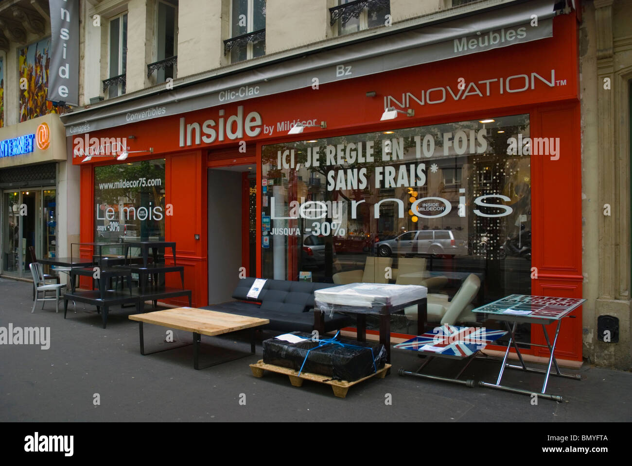Furniture Shop Boulevard De Sebastopol   Stock Image