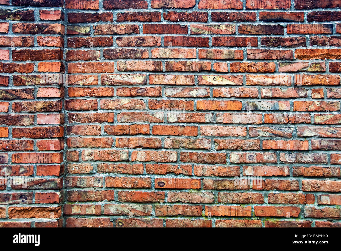 red bricks wall background - Stock Image