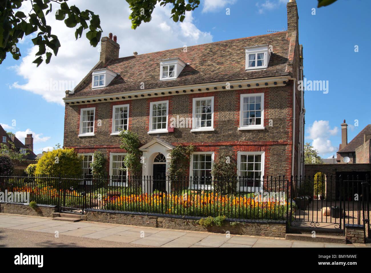 Edwardian house Ely city centre, Cambridge, Cambridgeshire - Stock Image