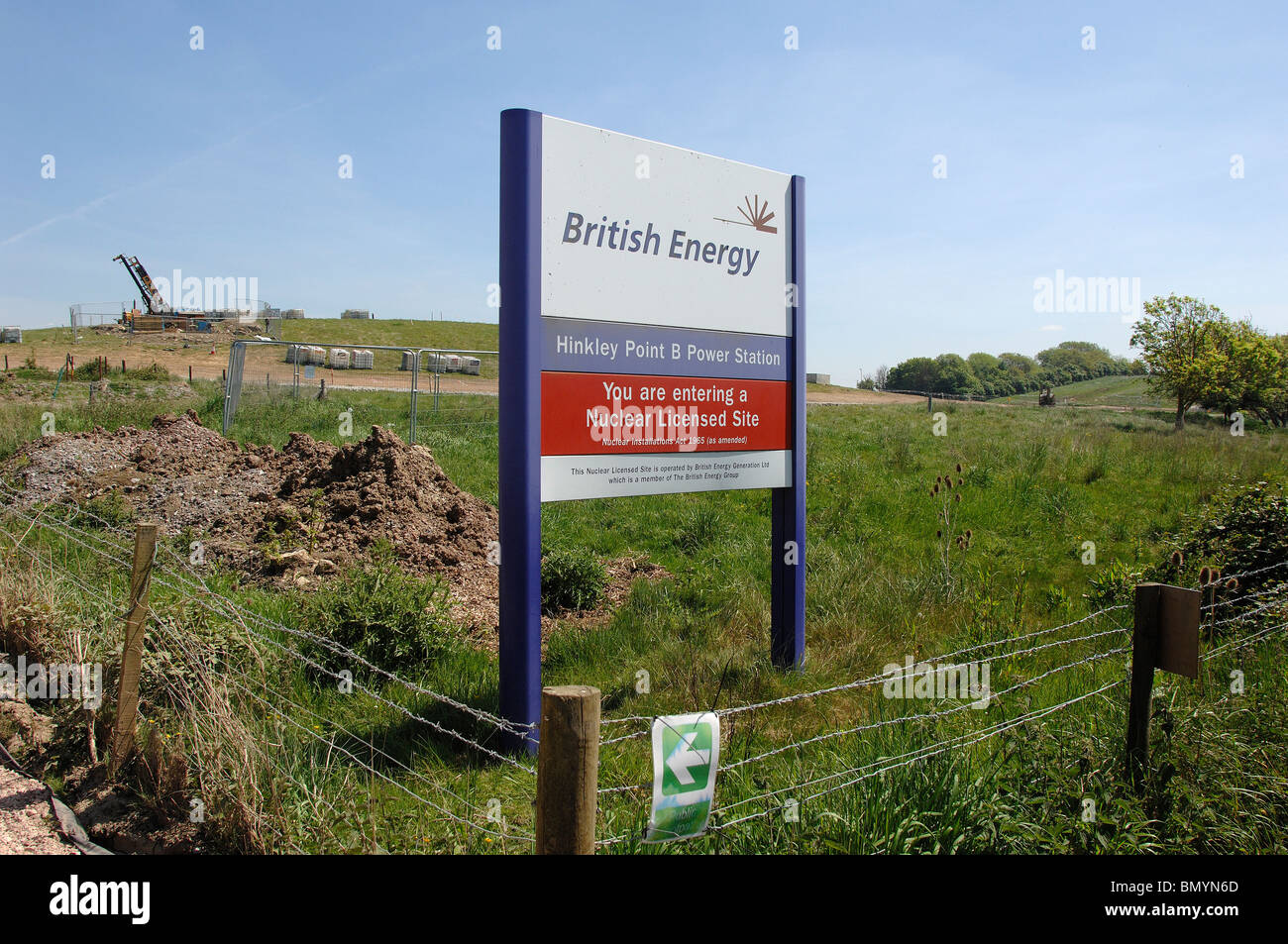 Site where proposed Hinkley C Nuclear Power station would be built. - Stock Image