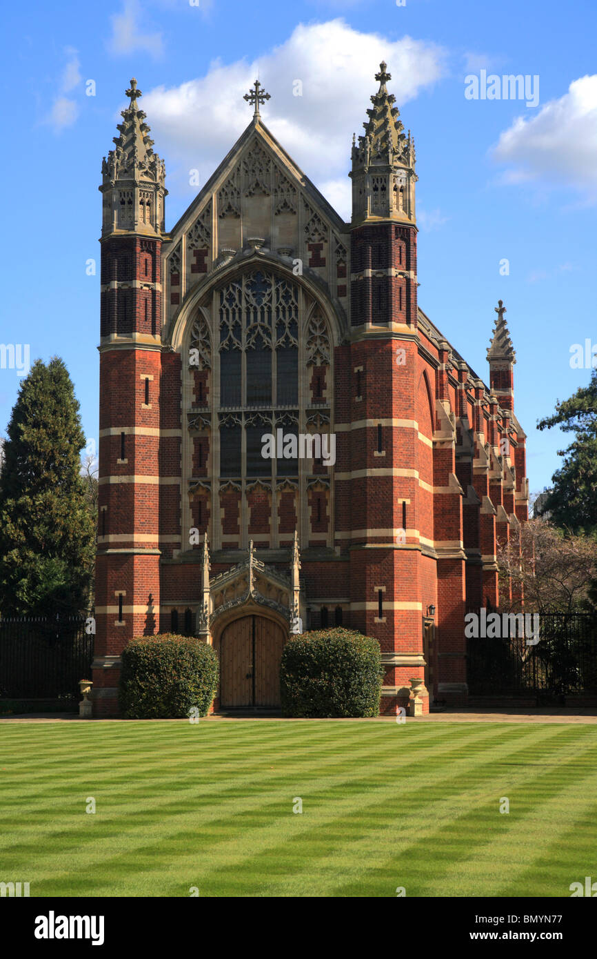 Selwyn College Old Court, Chapel and Lawns, Cambridge University - Stock Image