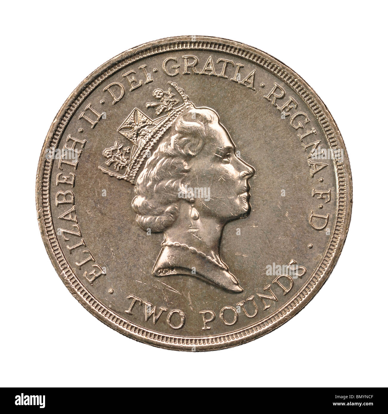 1989 UK two pound coin - Stock Image