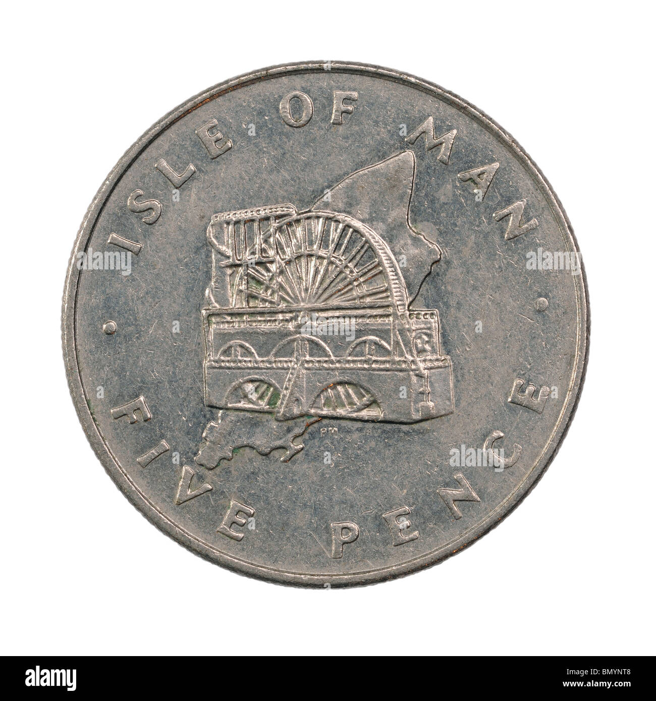 Isle of Man Five Pence coin - Stock Image