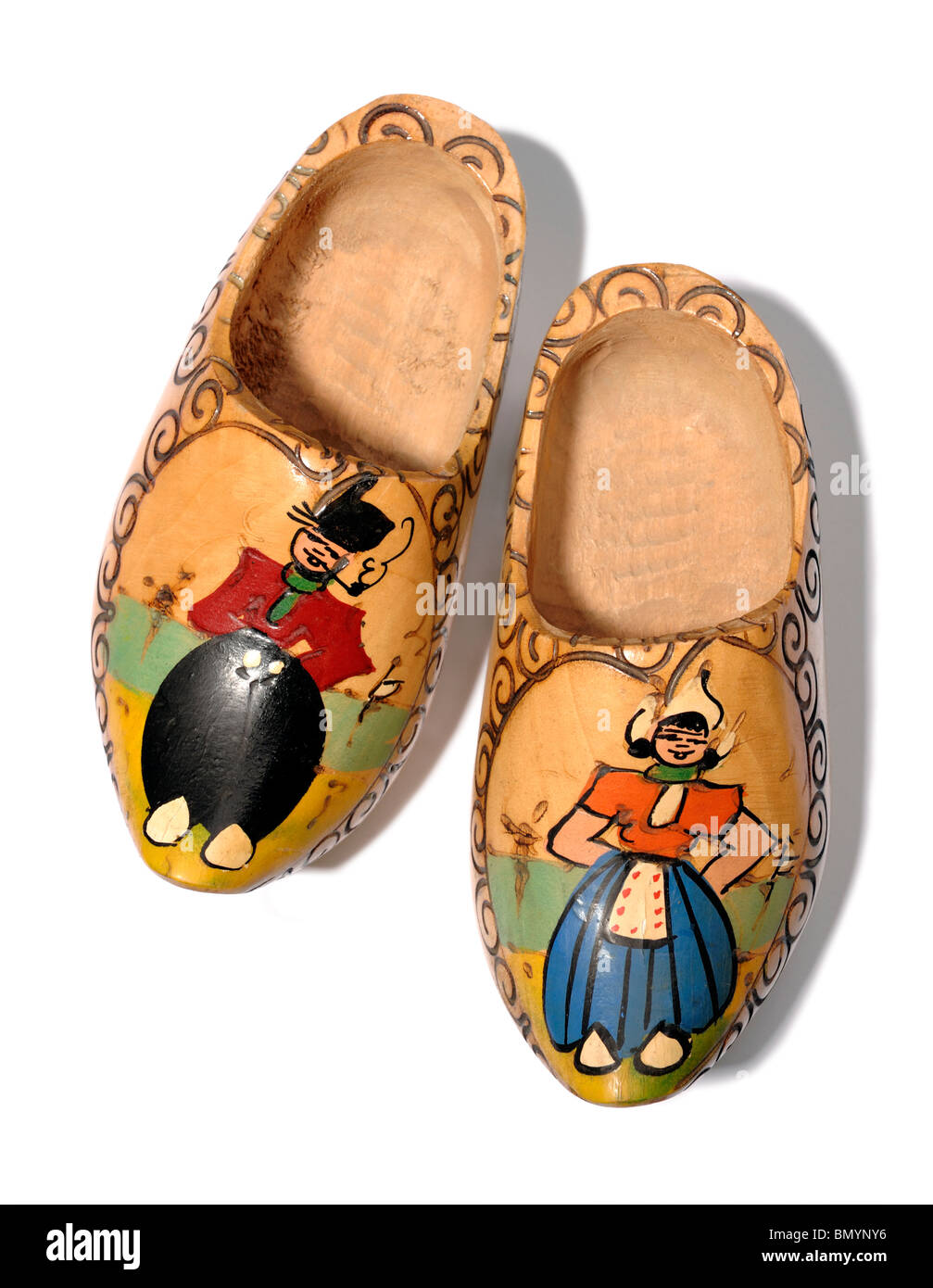 Wooden clogs - Stock Image