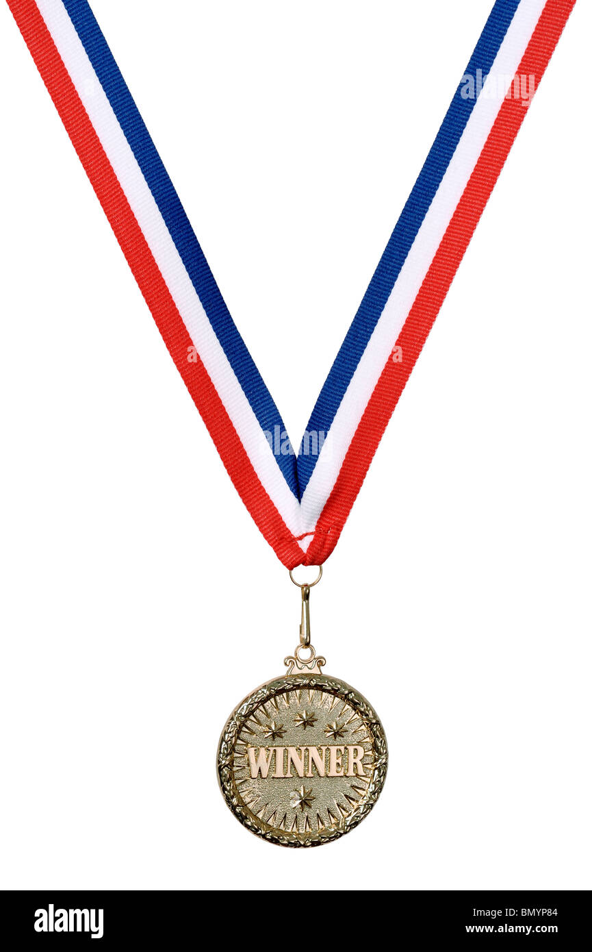 Gold Winner medal - Stock Image